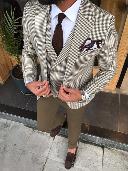 Sampson - Beige 3 Piece Suit