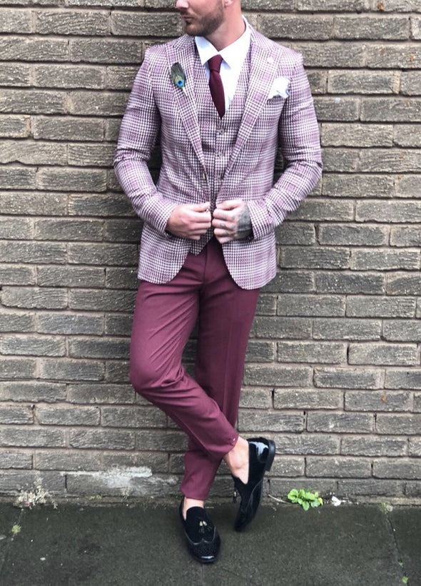 Davin - Red 3 Piece Suit