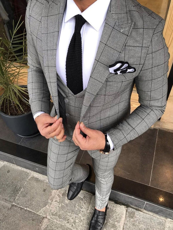 Ronan - Dark Grey 3 Piece Suit