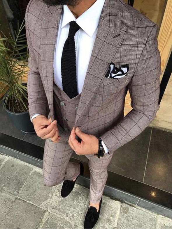 Ronan - Red 3 Piece Suit