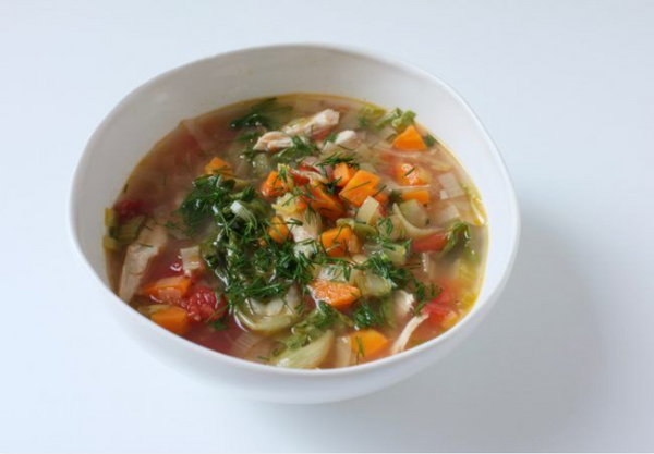 Chicken  and  Escarole  Soup  with  Lemon