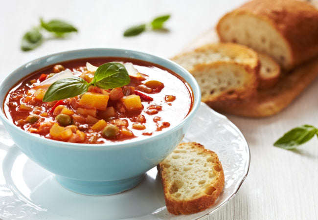 Hearty Minestrone Soup with Farro