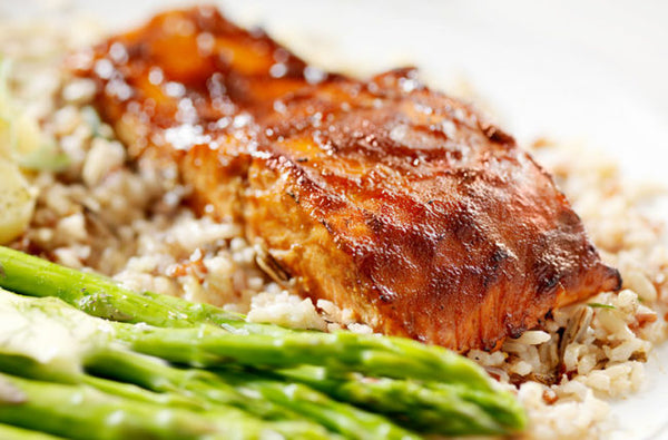Grilled Salmon with Molasses-Lime Glaze