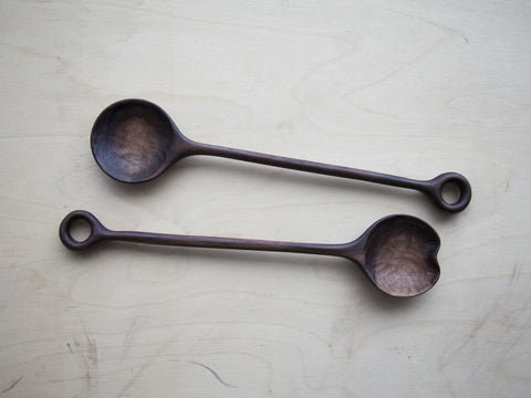 Walnut Salad Spoon Set
