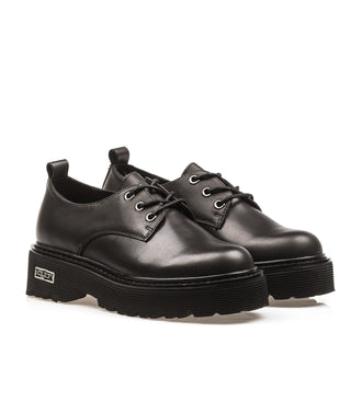 Cult Slash Platform Sneakers Pelle Bassa Nero Donna