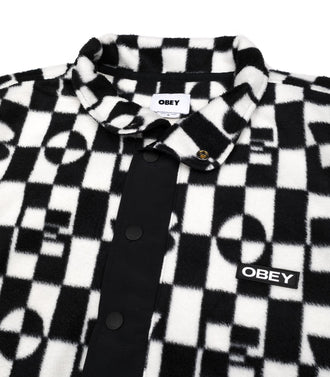 Obey Selector Pullover Pile Nero Uomo