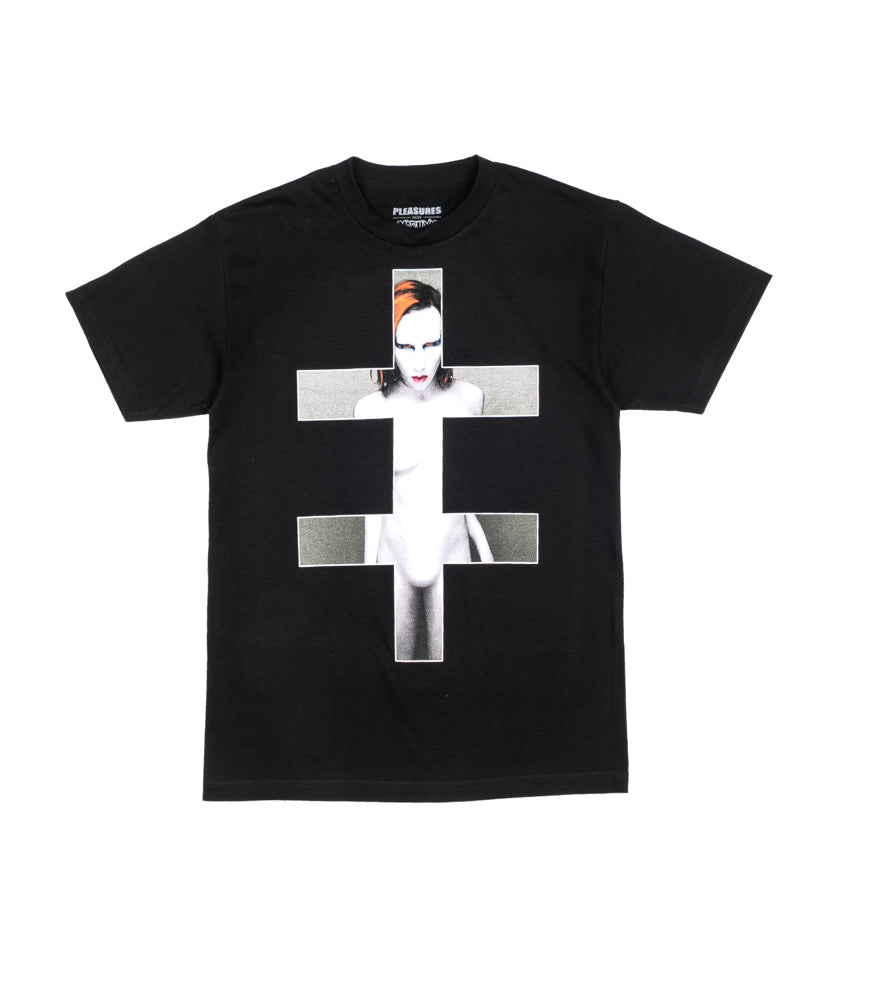Pleasures Mells T-Shirt  Marilyn Manson Nero