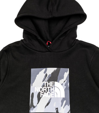 The North Face Felpa Cappuccio Youth New Box Nero Bambino