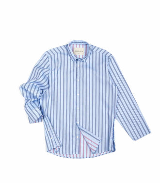 Core Late Camicia Lino Taglio Vivo Light Blue
