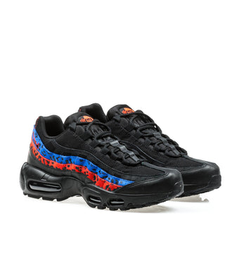 "Nike Air Max 95 Premium Animal ""Black Leopard"" Racer Blue/Habanero Red"