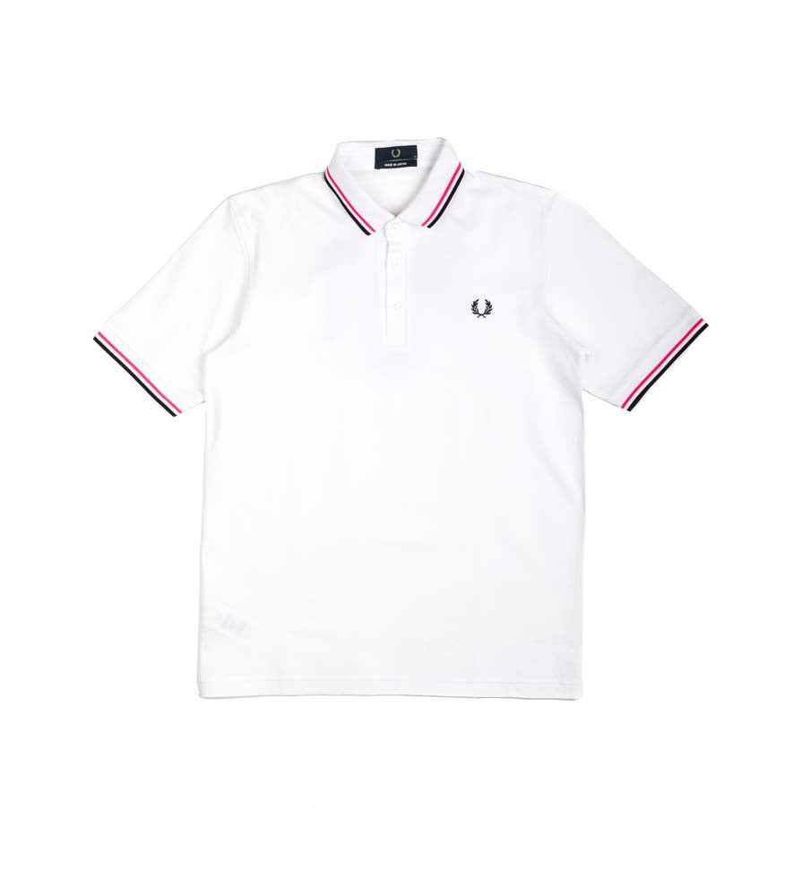 Fred Perry Polo Made In Japan Bianco Fluo