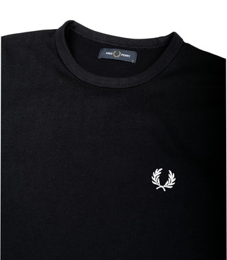 Fred Perry T-Shirt Logo Piccolo Blu