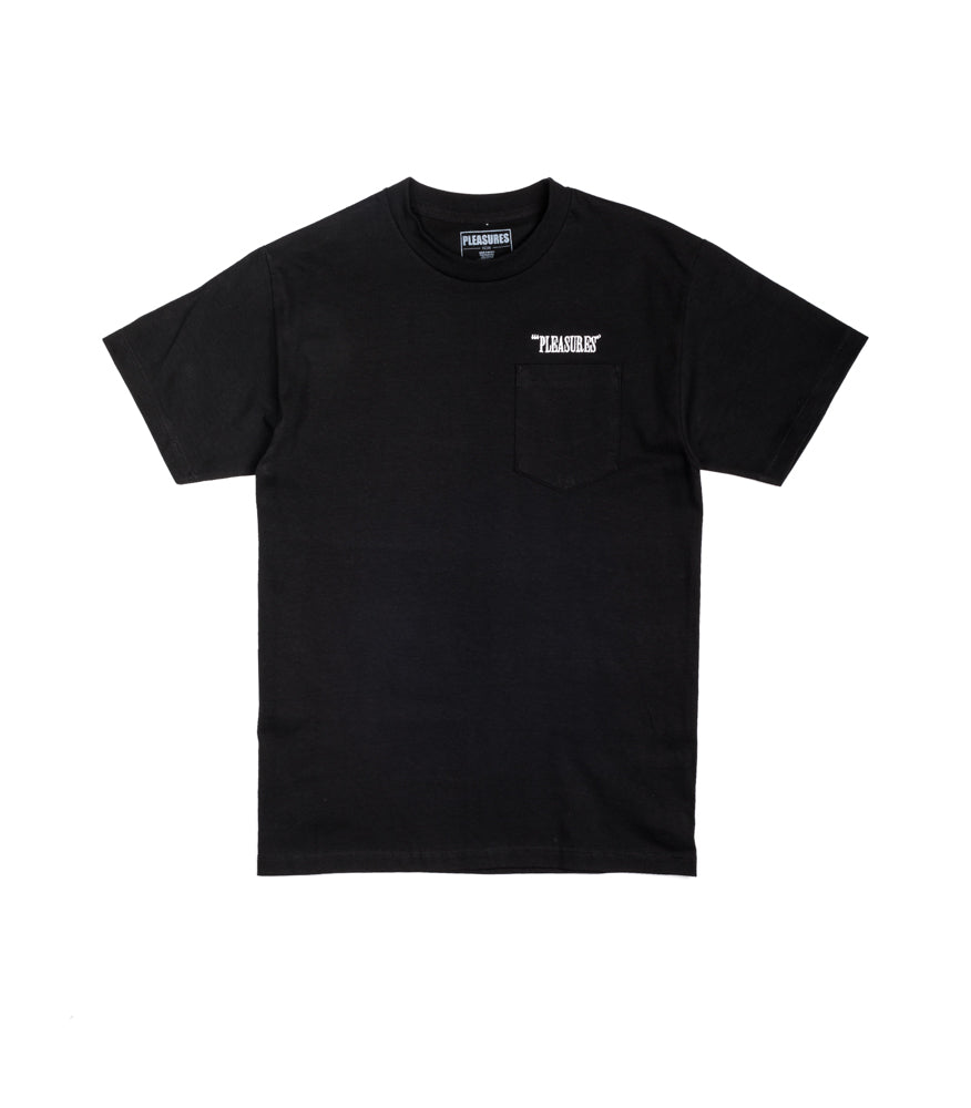 Pleasures T-Shirt Balance Embroidered Pocket Nero