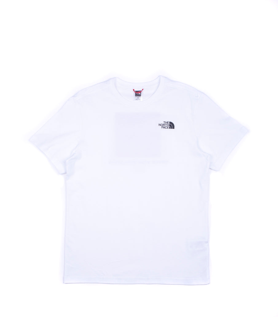 The North Face Men'S Ss Red Box Tee Bianco Nero Rosso