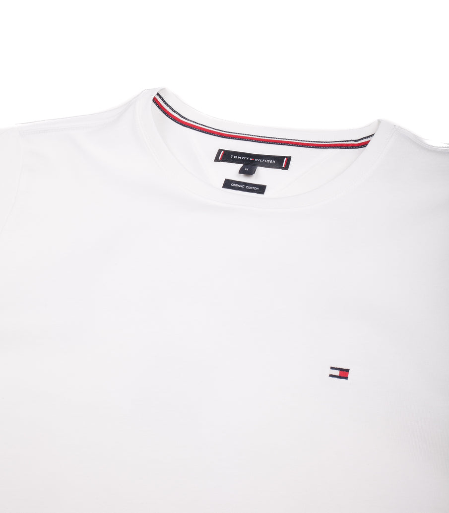 Tommy Hilfiger T-Shirt Essential Cotton Crew Neck Bianco