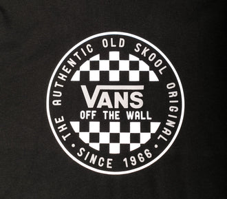 T-Shirt Vans Checker Ss Nero