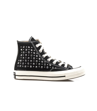 Converse Chuck 70 Canvas Ltd Crystal Swarosky Hi Black Full Crystals Nero Donna.