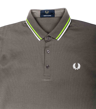 Polo Fred Perry Made In Japan FluÒ Grigio Verde Fluo Uomo