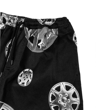 Pantaloni Corti Pleasures Black Roadside Nero Uomo