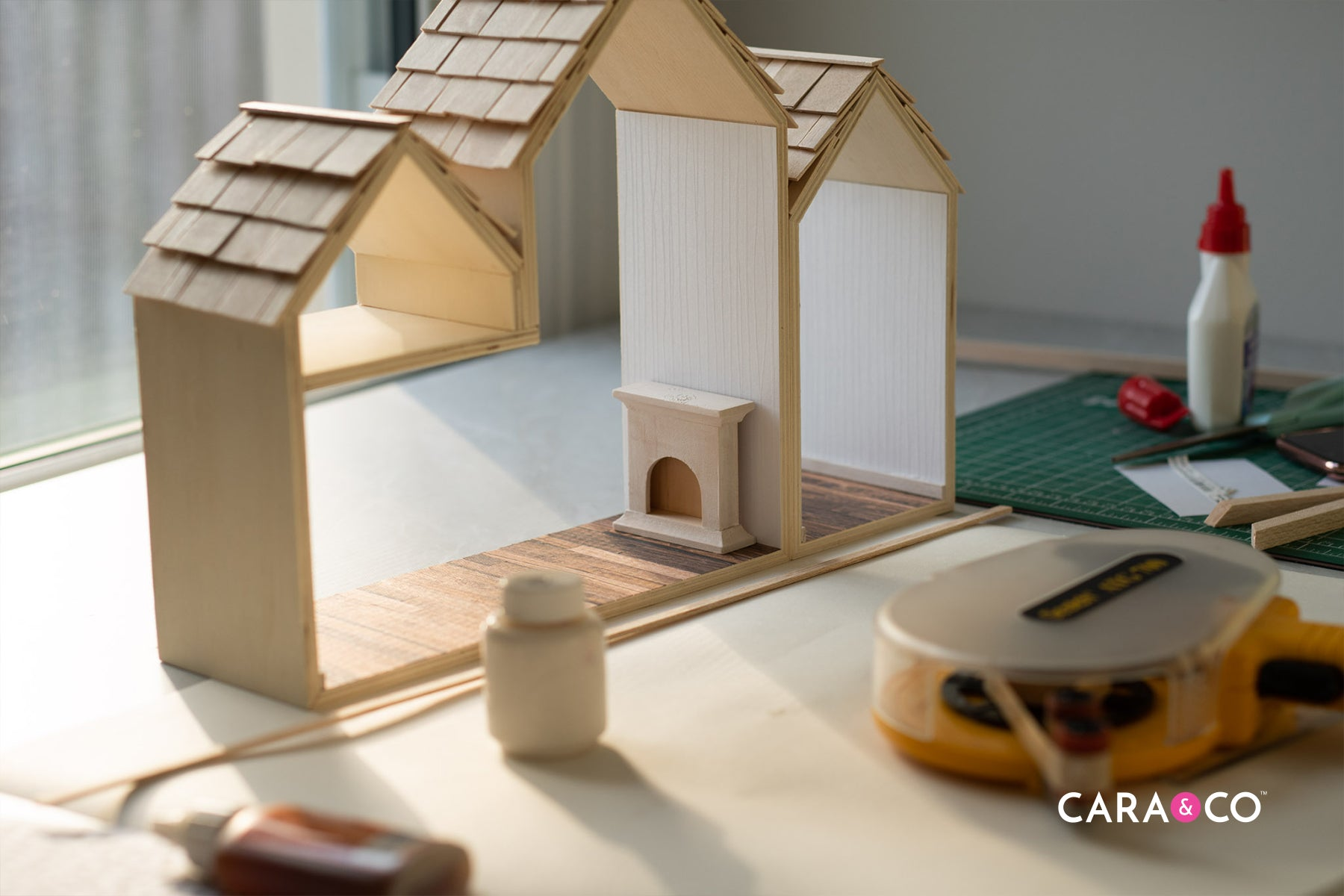 DIY dollhouse finishing touches