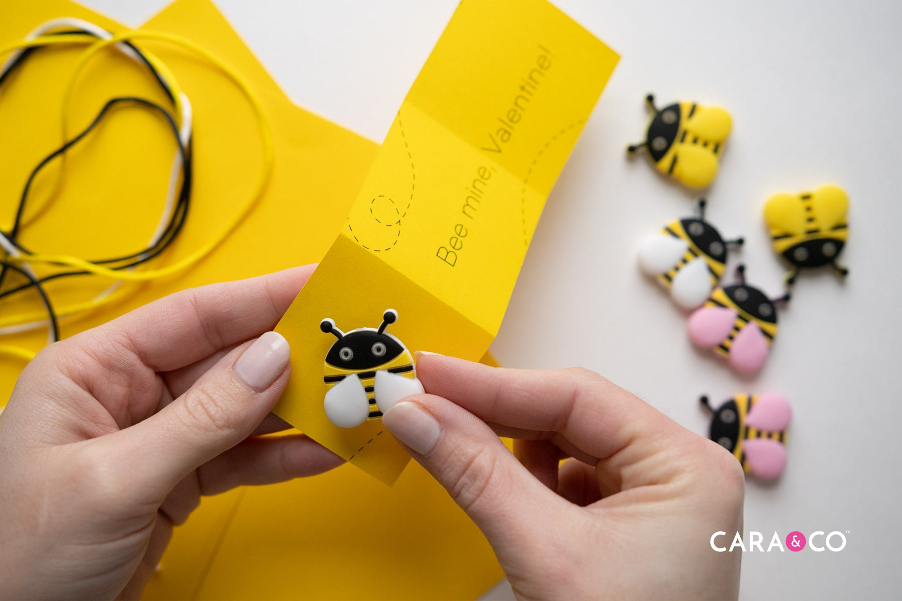 Cute Silicone Bee Bead Valentines Craft