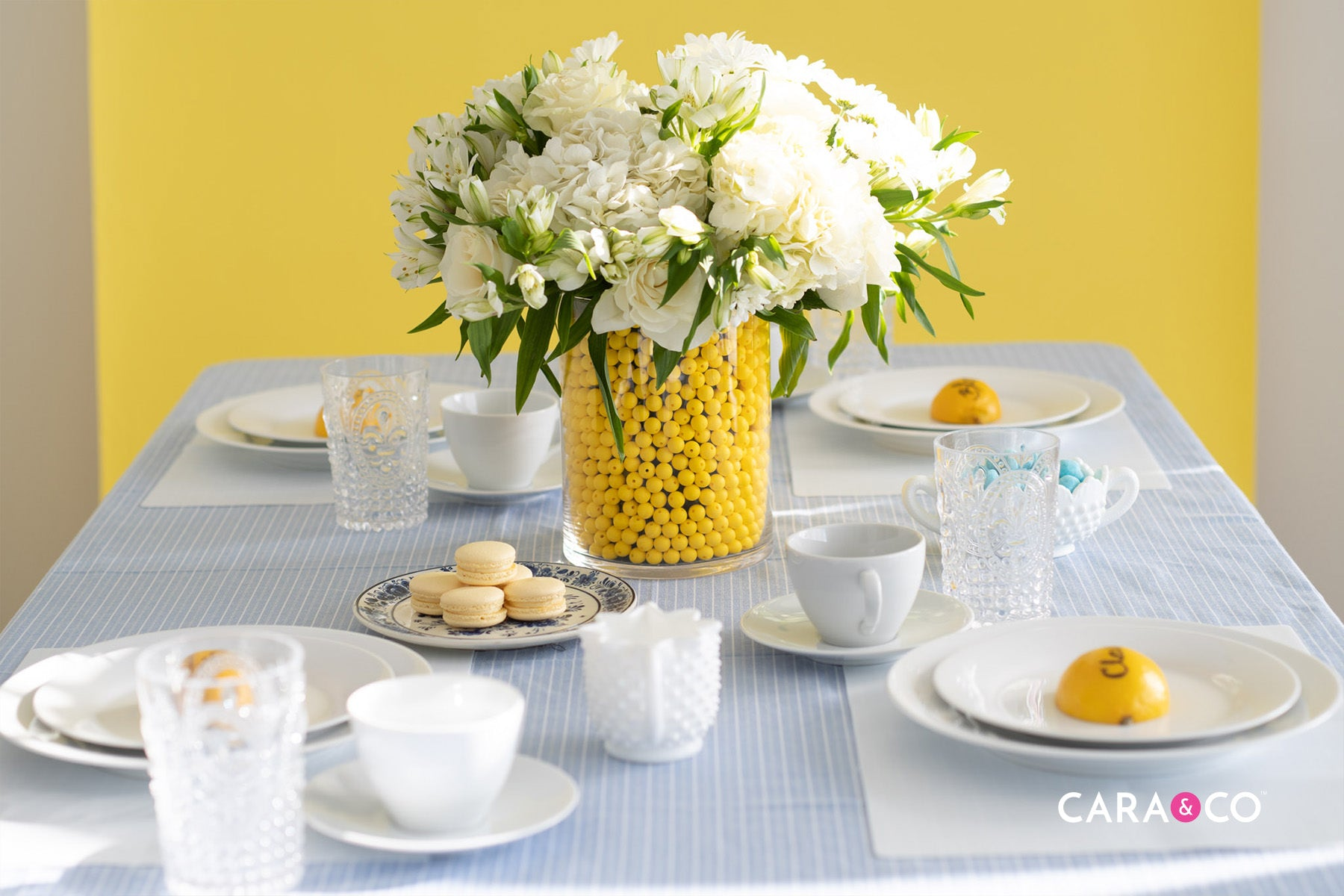 Spring Baby Shower Tablescape