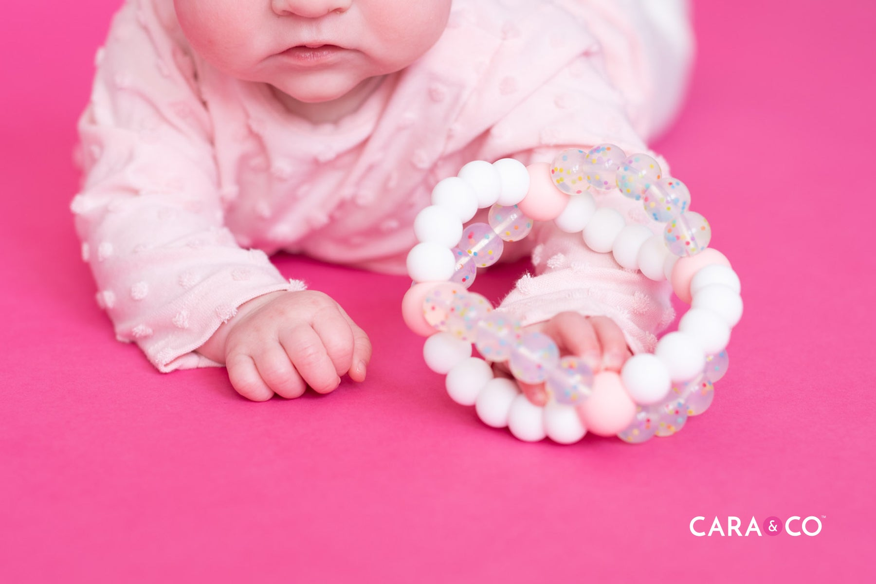 DIY double hole bead teething toy