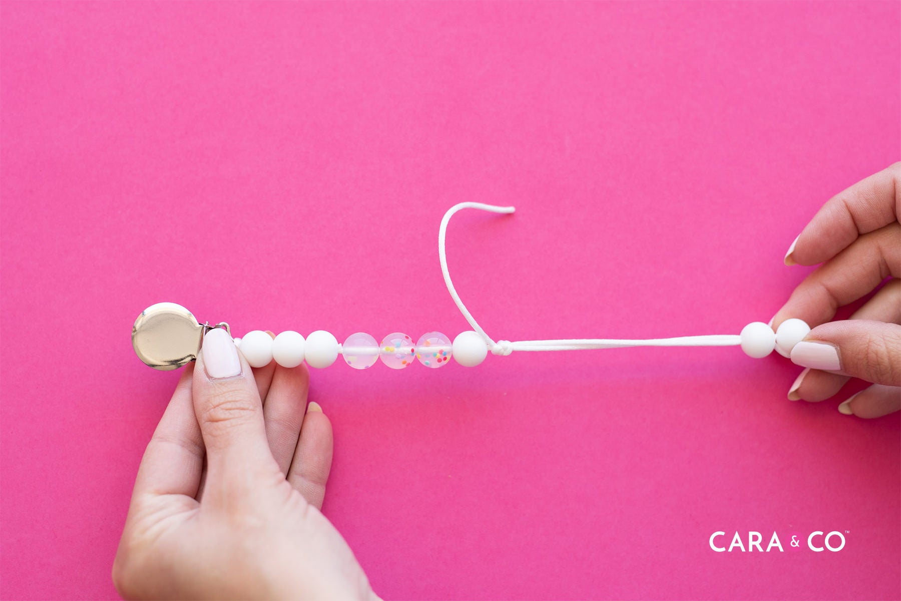 Knot safety - The safest ways to finish off your handmade soother clips - Cara & Co