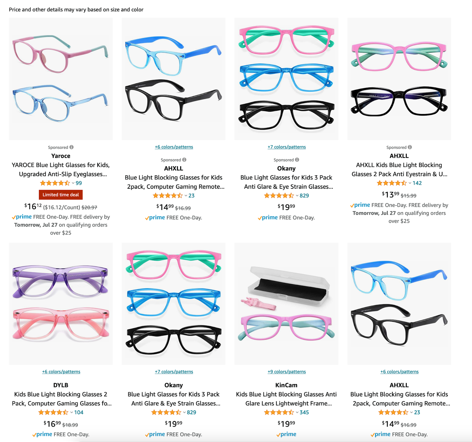 Back to school in style - Blue light glasses for kids