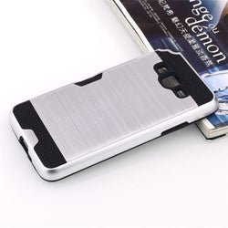 Samsung Galaxy Grand Prime - Shockproof Slim Wallet Credit Card Holder Case Cover [Pro-Mobile]