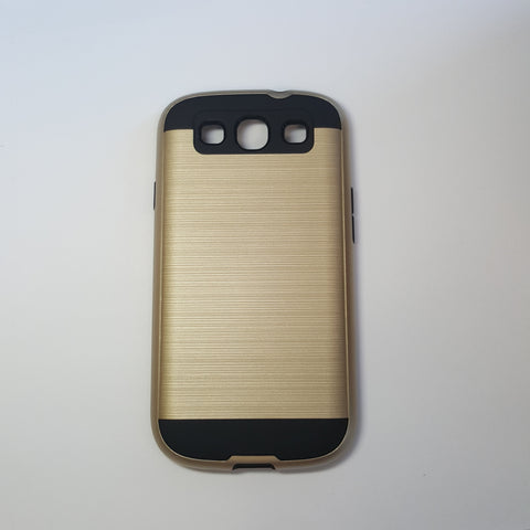 Samsung Galaxy S3 - Shockproof Slim Dual Layer Brush Metal Case Cover [Pro-Mobile]