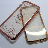 Apple iPhone 6G/6S - Chrome Edge with Rhinestone Silicone Case