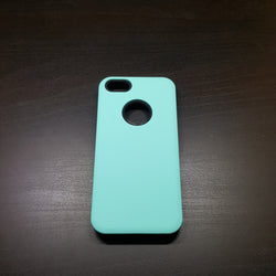 Apple iPhone 5G/5S/SE - Silicone With Hard Back Cover Case [Pro-Mobile]