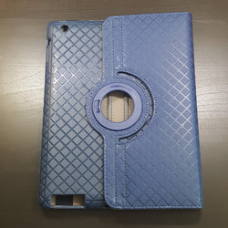 Apple iPad 2/3/4 - Grid Plaid Pattern 360° Tablet Case