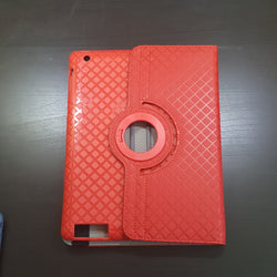Apple iPad 2 / 3 / 4 - 360 Rotating Grid Plaid Pattern Stand Case Smart Cover [Pro-Mobile]