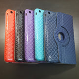 Apple iPad Mini 2 / 3 - 360 Rotating Grid Plaid Pattern Stand Case Smart Cover [Pro-Mobile]