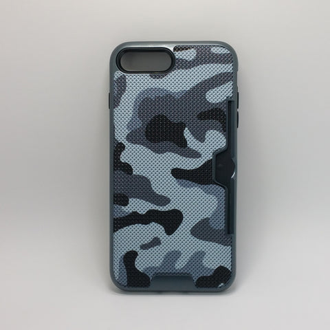 Apple iPhone 7 Plus / 8 Plus - Military Camouflage Credit Card Case