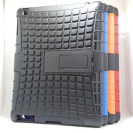 Apple iPad 2 / 3 / 4 - Tough Jacket Hybrid Rugged Heavy Duty Hard Back Cover Case with Kickstand