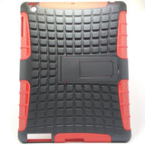 Apple iPad 2 / 3 / 4 - Tough Jacket Hybrid Rugged Heavy Duty Hard Back Cover Case with Kickstand [Pro-Mobile]