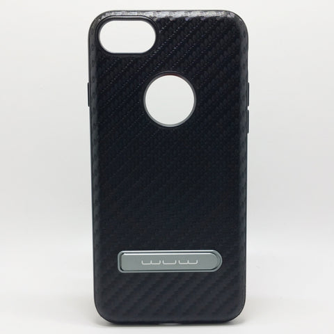 Apple iPhone 7 / 8 - WUW Carbon Fiber Case with Kickstand