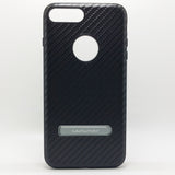 Apple iPhone 7 Plus / 8 Plus - WUW Carbon Fiber Case with Kickstand