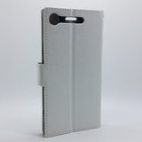 Sony Xperia XZ1 - Magnetic Wallet Card Holder Flip Stand Case with Strap [Pro-Mobile]