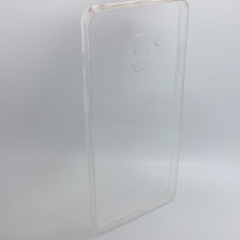 Samsung Galaxy A8 Plus (2018) - Clear Transparent Silicone Phone Case With Dust Plug [Pro-Mobile]