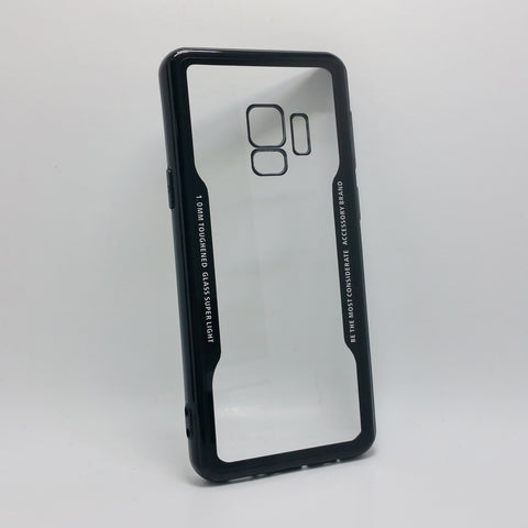 Samsung Galaxy S9 - TPU Bumper Frame Case with Clear 1mm Toughened Glass Back Cover