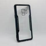 Samsung Galaxy S9 Plus - TPU Bumper Frame Case with Clear 1mm Toughened Glass Back Cover