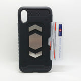 Apple iPhone X - Magnet Enabled Badge with Credit Card Holder Case
