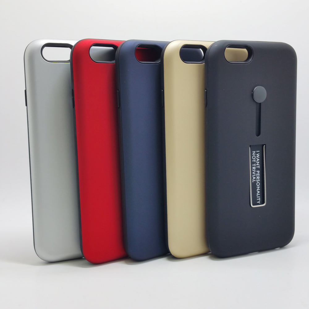 purchase cheap 5c226 cac65 Apple iPhone 6 / 6S - I Want Personality Not Trivial Case with Kickstand  Color
