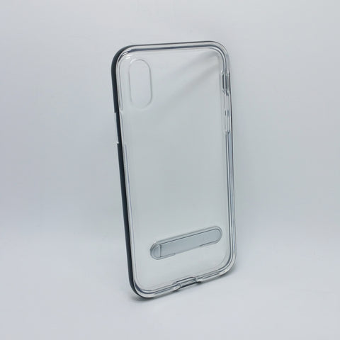 Apple iPhone XS Max - Aluminum Bumper Frame Case with Kickstand