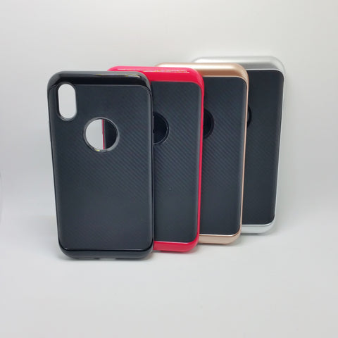Apple iPhone X - Slim Carbon Fiber Hybrid Case
