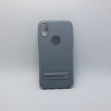 Apple iPhone X - Silicone Cover Case with Kickstand
